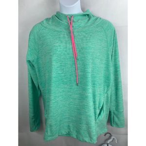 TUNIC HOODIE Women's XL Teal/ Pink BIG Pocket